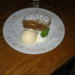 Applestrudel with ice cream