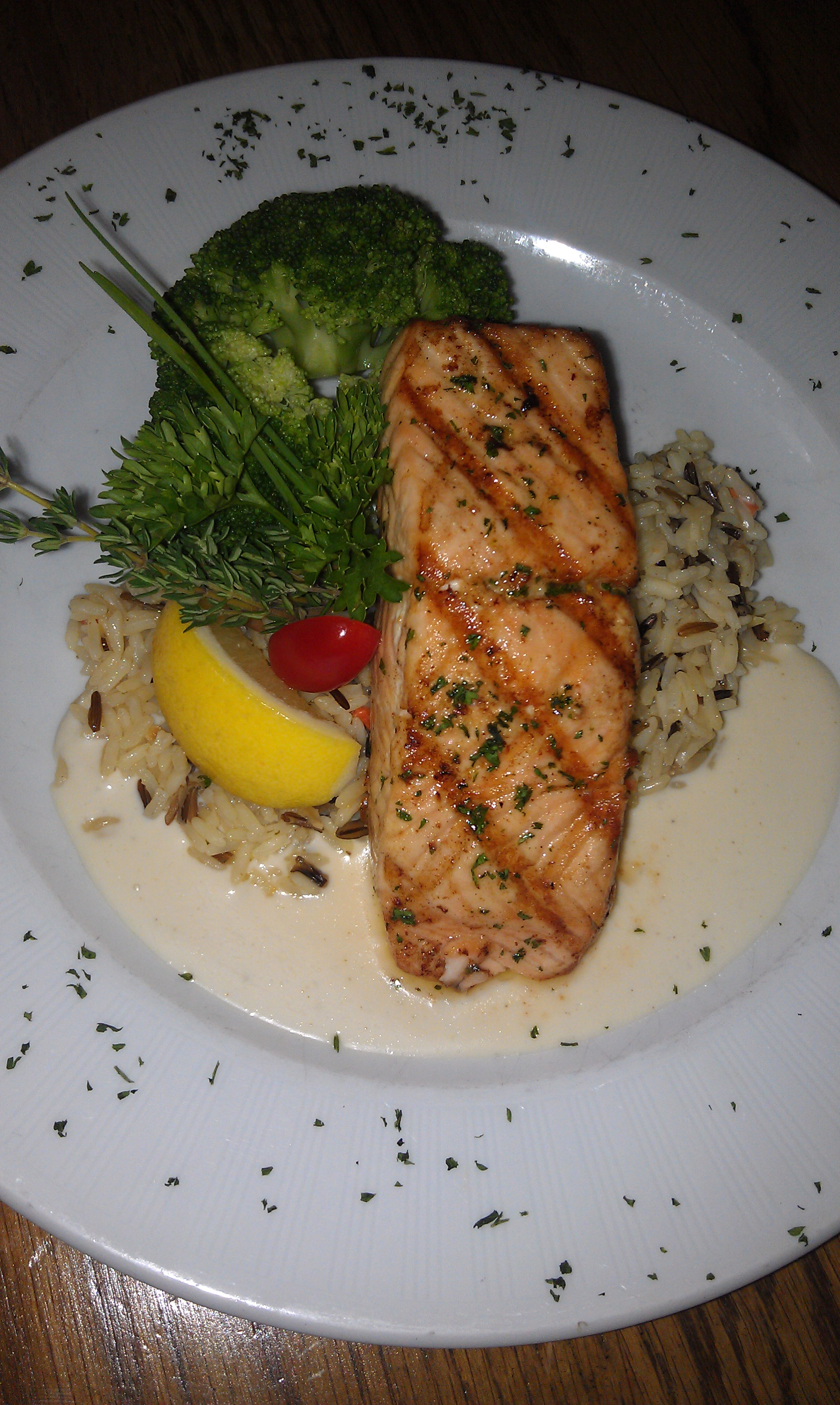 """Gegrillter Lachs """"Riesling"""""""